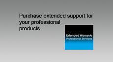 Purchase extended support for your professional products