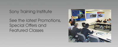 Sony Training Institute Promotions
